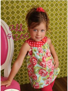 Circle-Top Shirt PDF Pattern, Baby, Toddler Girl newborn to 5T. $7.95, via Etsy.
