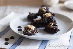 Anyone will love these Easy & Quick almond coconut bites. Gluten-free and paleo snack recipe. htt://www.songbirdblog.com
