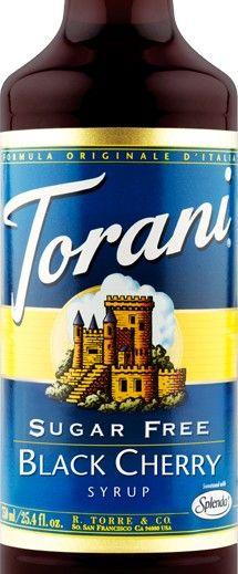 Sugar Free Black Cherry Torani Syrup