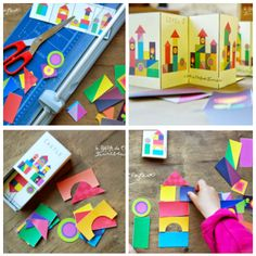 FREE Printable Paper Castle Building Kit. Great quiet time game!!