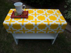 Rustic Bench Gets Modern Moroccan-Inspired Makeover: The trick with this DIY project was the careful use of painter's tape. Click through for the tutorial.