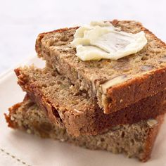 Zucchini-Oat Bread: Applesauce and butter add moistness to this delicious quick-bread recipe. After baking, top with a mixture of cinnamon and sugar for added flavor.