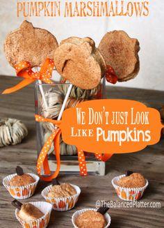Pumpkin Marshmallows | The Balanced Platter
