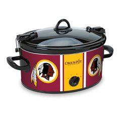 Washington Redskins NFL Crock-Pot® Cook & Carry™ Slow Cooker - Crock-Pot comes in a smaller size too @Jayne Miller @Jenni Smith