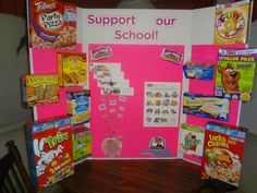 Open house Box Tops display board