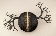 Sonya Clark - Two Trees (2002) | wool felt, linen thread