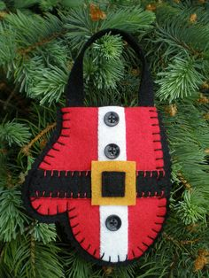 santa mitten too cute santa mitten, navidad, gift cards, felt christmas ornaments, guant santa, christma ornament, felt santa, gift card holders