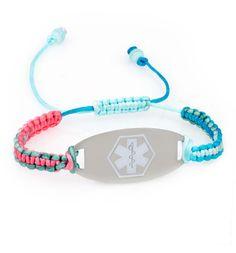 Blue Surf White Oval Medical ID Bracelet #medical_ID #laurenshope #medical_alert
