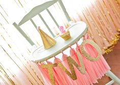 Project Nursery - View More: http://sweetbloomphotography.pass.us/bridgets2ndbirthday pink and gold birthday party