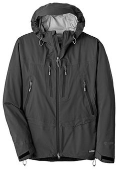 REI Shuksan Jacket. made with event, it is quieter and more breathable then gore-tex, even without pit-zips. My favorite rain shell to date.