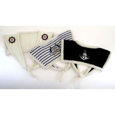 Handmade Knitted Sailor Collar - Stripe