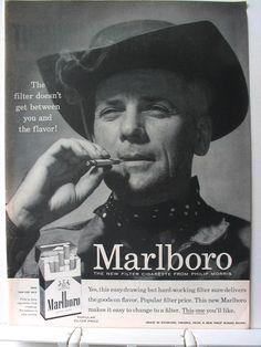 print ad, advertis classic, vintage prints, marlboro man, marlboro 1955