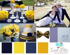 Navy and Yellow Wedding Theme