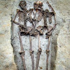 The skeleton remains of a Roman-era couple reveal the pair has been holding hands for 1500 years.