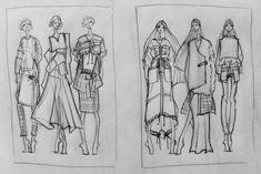 Fashion Sketchbook - fashion design sketches; fashion illustrations // Issa Grimm