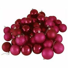 Color Fucsia - Fuchsia!!! Christmas Ball Ornaments