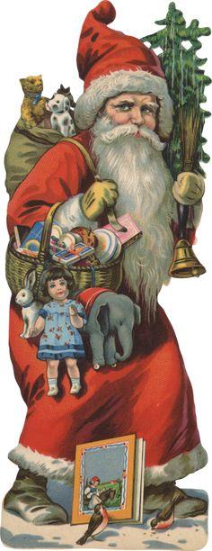 Vintage Victorian Santa Scrap