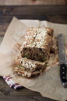 Rhubarb Oat Quick Bread
