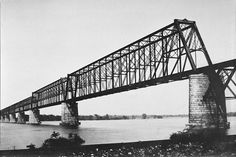 Cairo Rail Bridge, crossing the Ohio River, Cairo, Illinois, USA