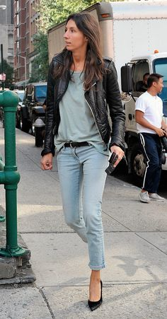 #GeraldineSaglio basically killing it with her typical casual French style. Paris.