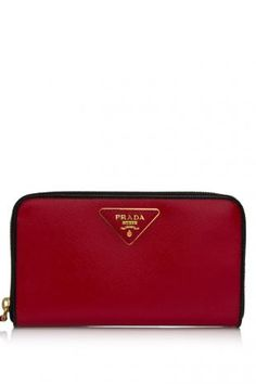 Prada Saffiano Vernic Zip-Around Wallet  HK$3,648