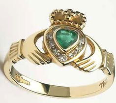 The Claddagh ring is the traditional Irish wedding ring. Claddagh symbolism is timeless...signifying love, fidelity, and friendship