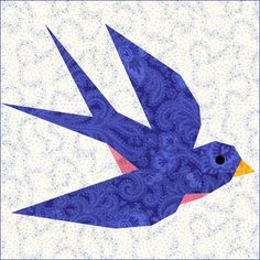 Swallow Paper Pieced Quilt Block
