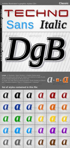 Illustrator Graphic Styles - Classic - GraphicRiver Item for Sale