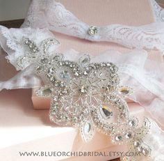 Wedding Garter Set Bridal Garter Crystal
