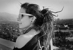 White Girl Dreadlocks Tumblr | black and white, cool, dreads, ear stretching, hipster