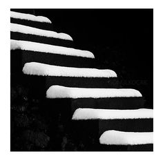 Black and White Photography  Stair wall decor snow by gonulk, $30.00