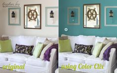 """How to Virtually Re-Paint Your Room using Olympic's """"Paint Your Own Room"""" tool--super cool!"""