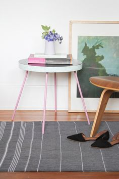 A Playful End Table Mini Makeover