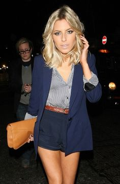 Mollie King- love the outfit and the hair