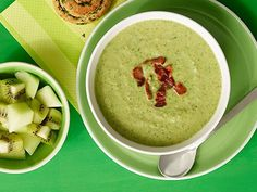 Bacon, Broccoli and Edamame Soup from #FNMag