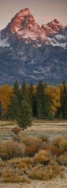 Grand Teton National Park, Wyoming. Saw it! It's inspiring.