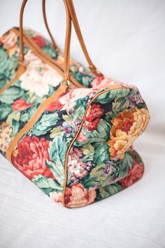 floral duffle luggage bag by ChicOrigins