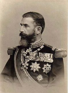 King Carol I (1839-1914) Romania. He was elected Ruling Prince of the Romanian United Principalities in 1866 after the overthrow of Alexandru Ioan Cuza by a palace coup. After the defeat of the Ottoman Empire in the Russo-Turkish War, he declared Romania a sovereign nation in 1878 (the country had been under the control of the Ottoman Empire until then). He was proclaimed King of Romania in 1881.