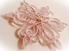 Christmas quilled snowflake