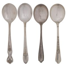 Eclectic Soup Spoon Set of 4