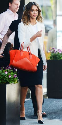 Look of the Day - June 1, 2014 - Jessica Alba from #InStyle