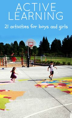 Get kids moving and learning. 21 Active learning activities for kids.