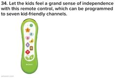 Kid remote that's programmed to kid-friendly channels!