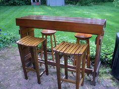 DIY outdoor cedar bar