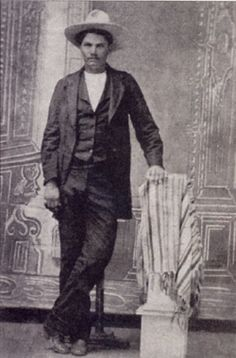 John Wesley Hardin (Outlaw) 1853-1895   He was famous as the most profligate killer in the Old West. He is believed to have killed a total of 44 men over the course of his lifetime, all of them before he reached the age of 23. (?)