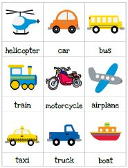 Transportation Preschool Pack