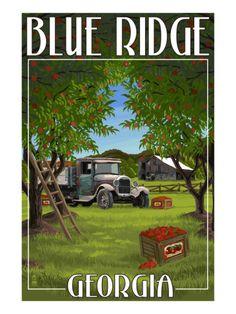 Beautiful Blue Ridge, #Georgia.
