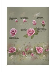 painting roses tutorial on pinterest china painting