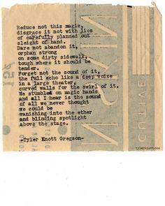 Typewriter Series #678byTyler Knott Gregson