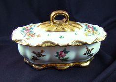 Vintage Hand Painted Porcelain Trinket Ring Box by Alyssabeths, $10.00